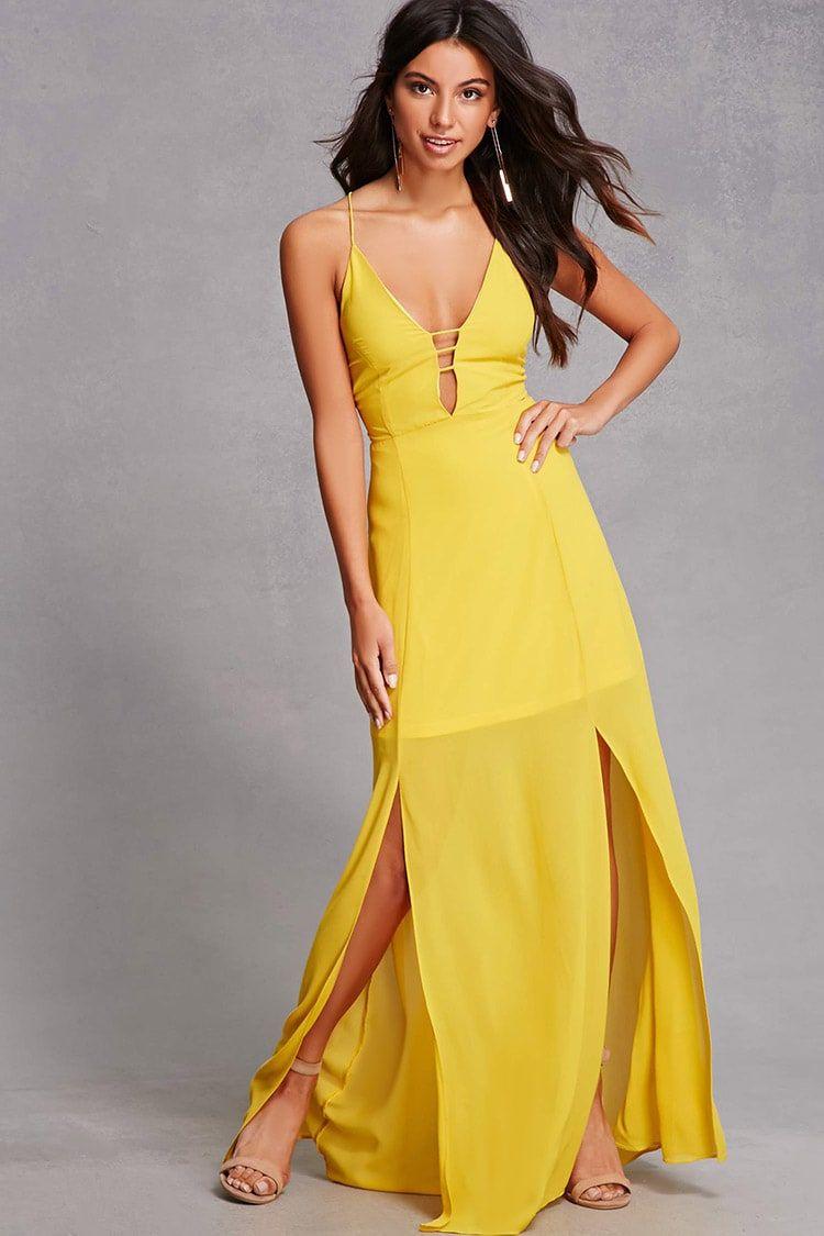 Chiffon strappyback maxi dress women dresses