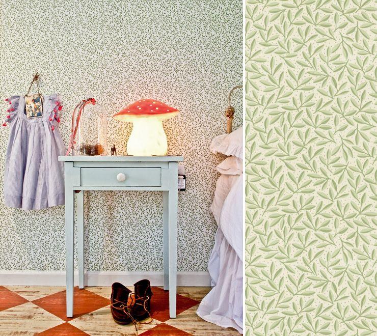 Au fil des couleurs papiers peints natures pour une for Papier peint pour chambre d enfant