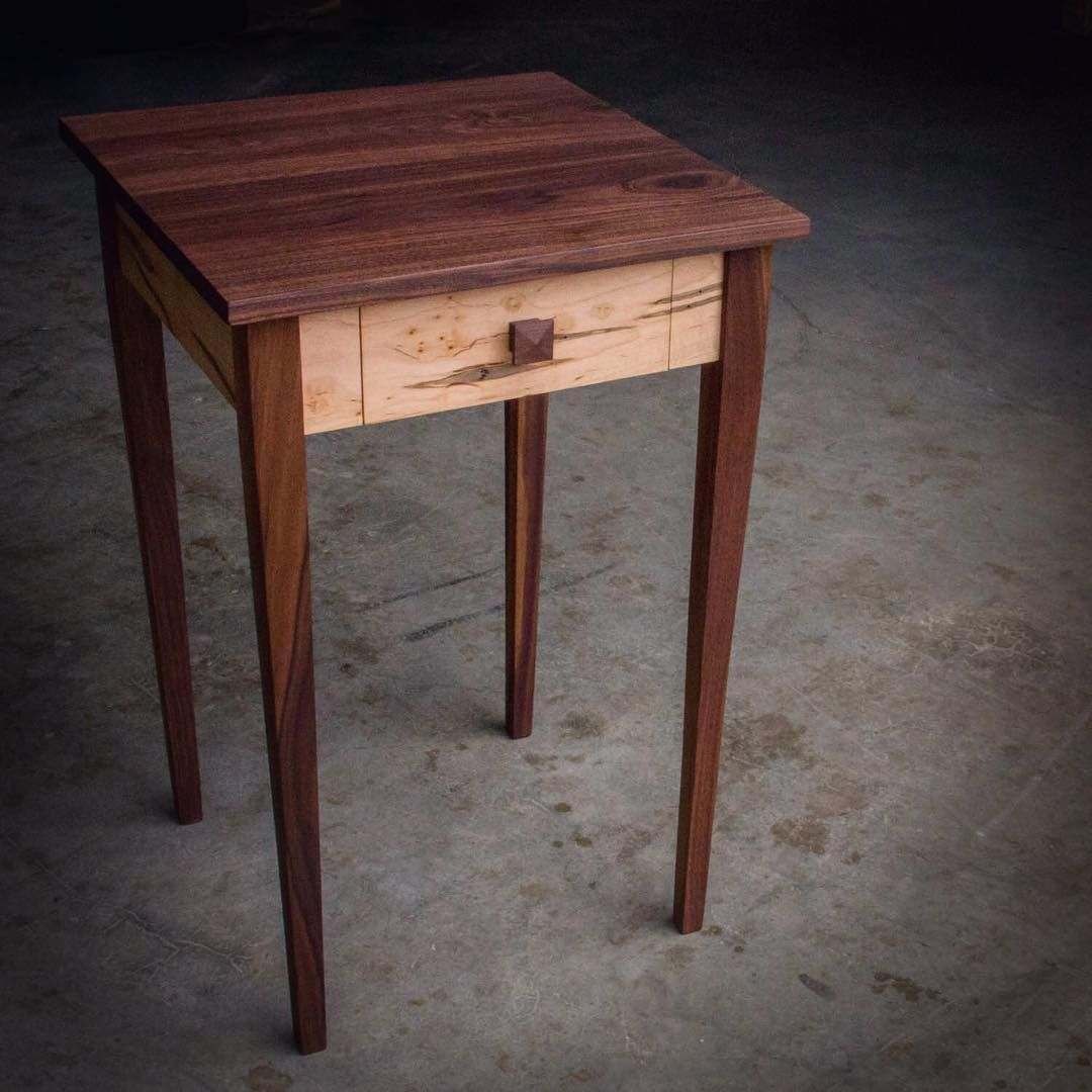 Walnut And Ambrosia Maple Shaker Inspired Nightstand Shaker Furniture American Hardwood Wood Sample