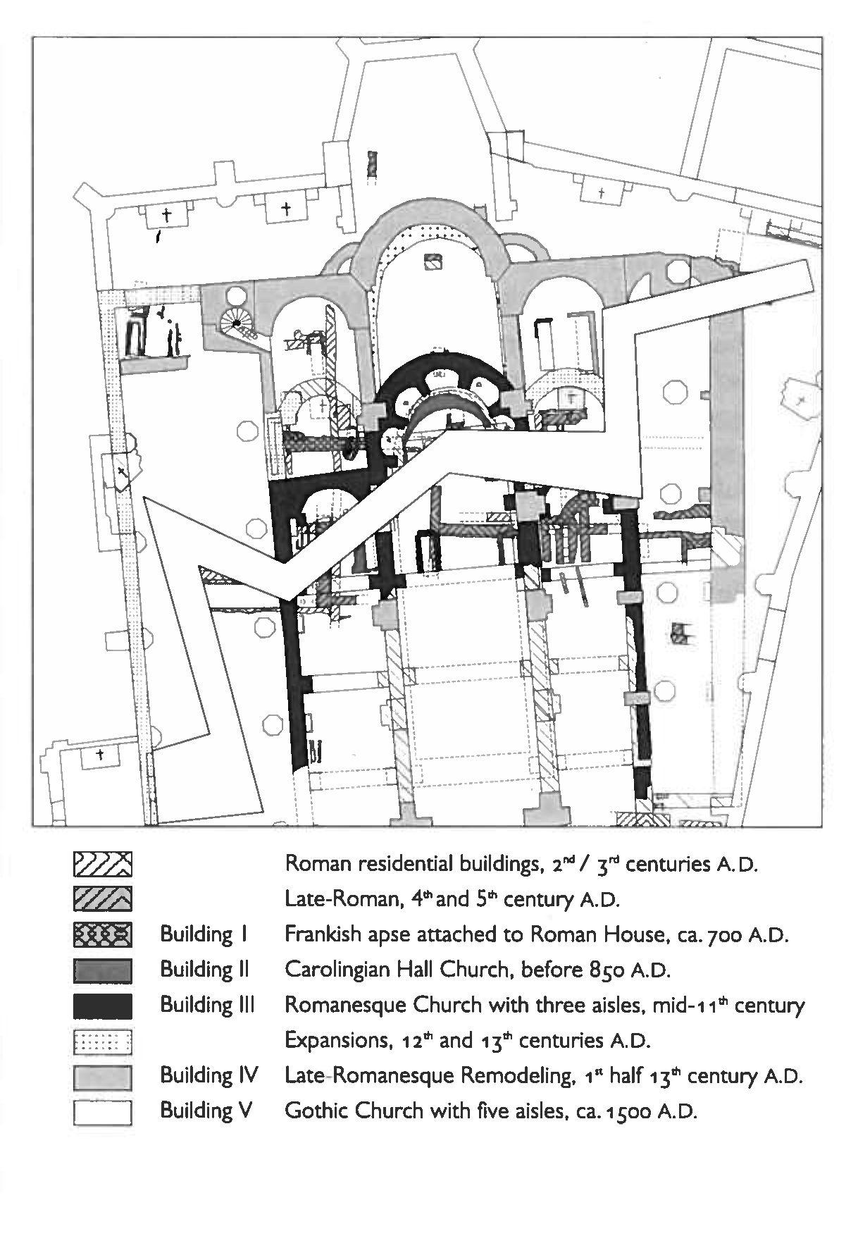 Peter Zumthor, historical record of site, Kolumba Museum, 2008 ...