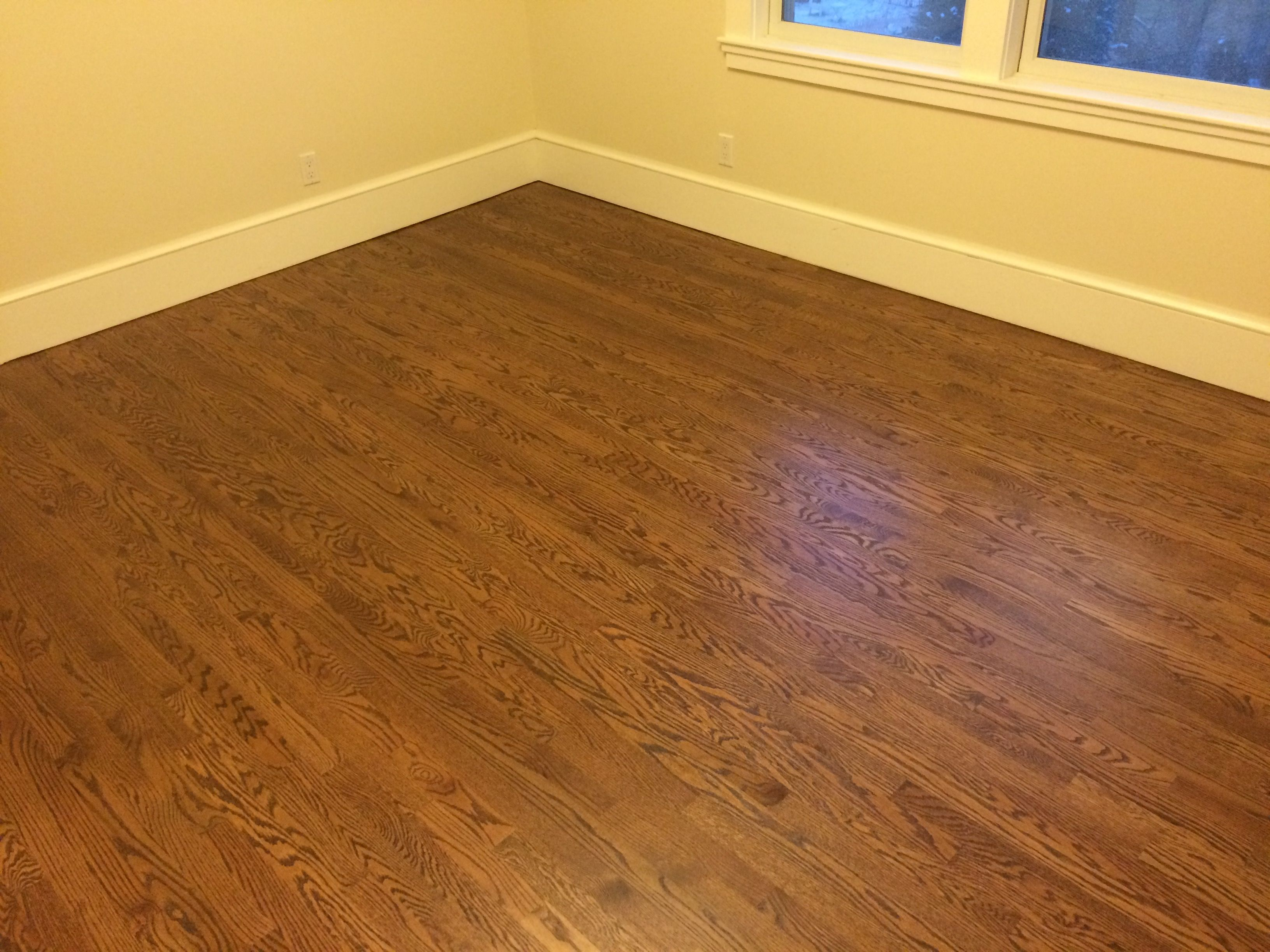 New Minwax - Special walnut over red oak hardwood floors topped with  RB42