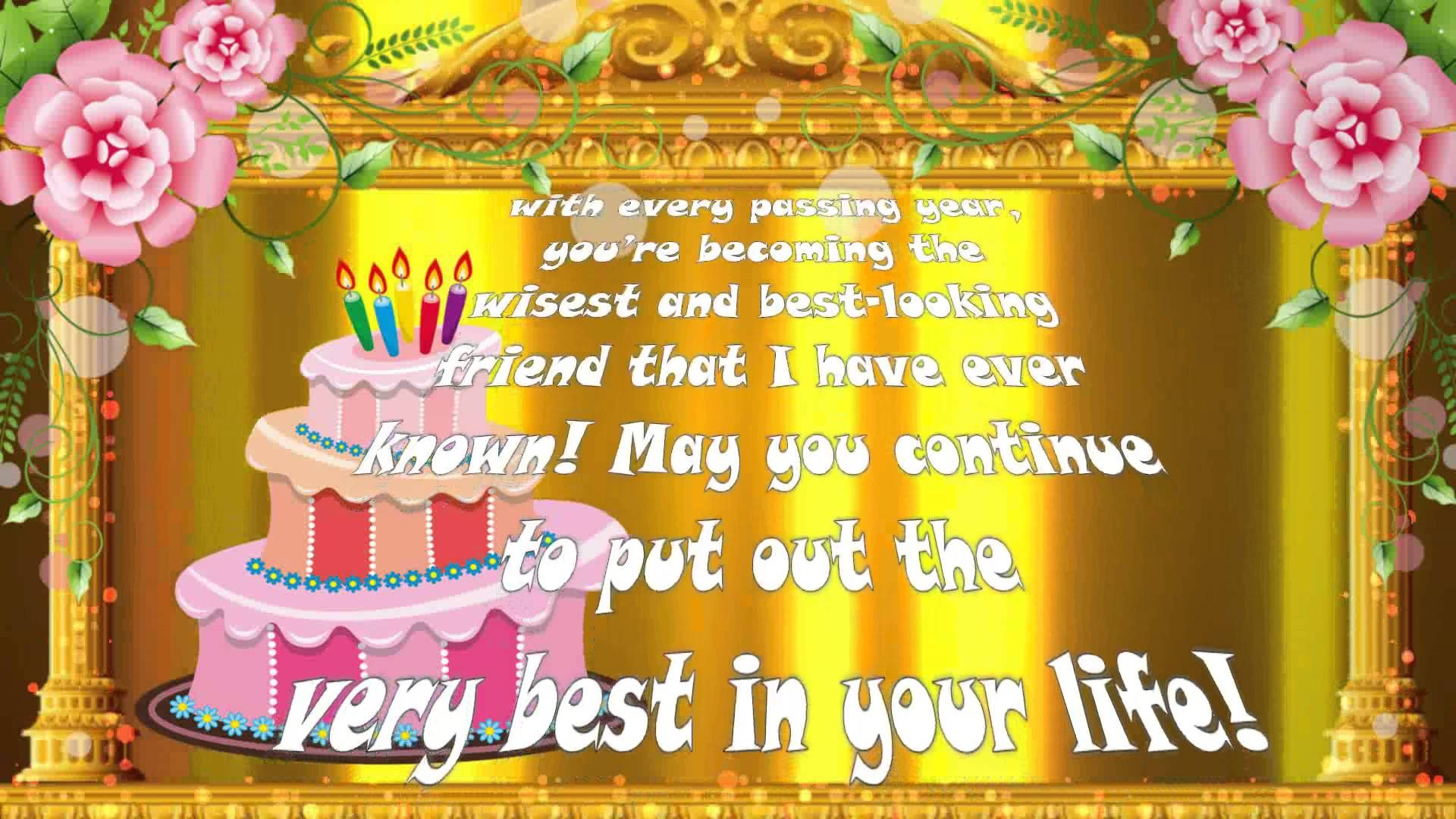 Birthday Ecard Quotes For Best Friend Happy Wishes Animation Video