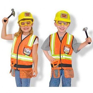 Construction Worker Costume Set By Melissa  Doug  Halloween