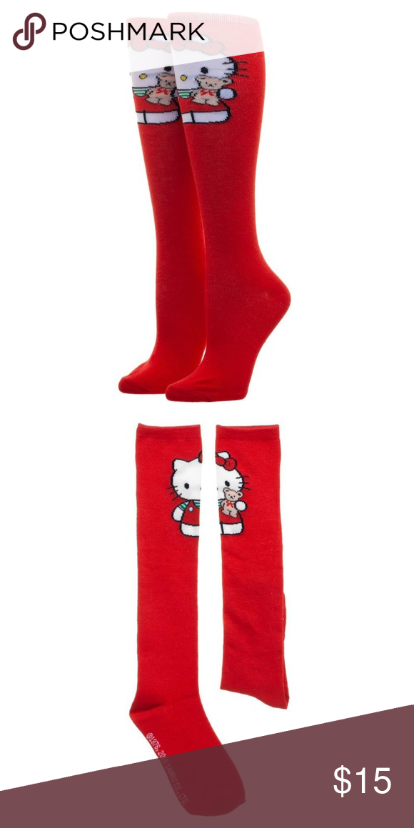 8c8a31449 Hello Kitty Red Knee High Socks SO CUTE This is for 1 pair of women's knee