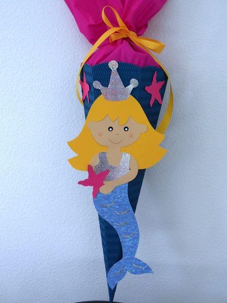 Schultüte Meeresjungfrau Wellpapperohling   Schultüte ...