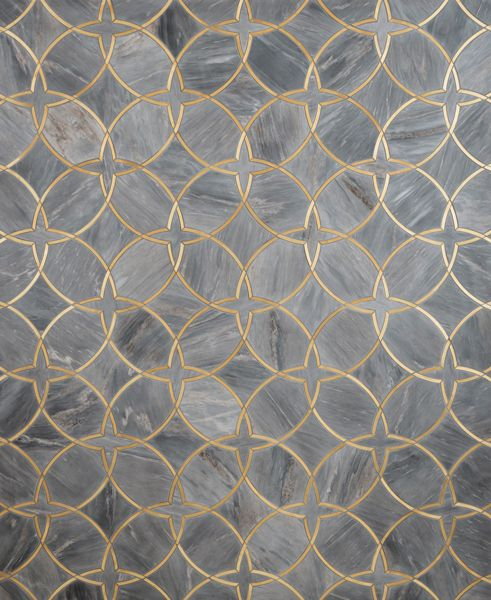 tile featuring marble and brass inserts