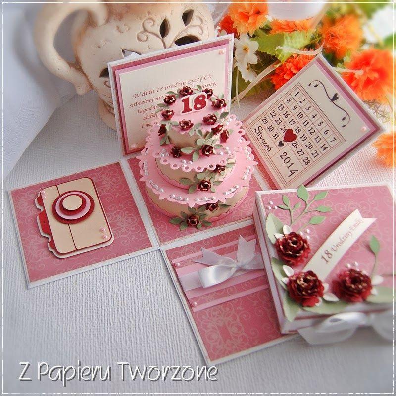 Cake Explosion Box Idea BoxesPrintablesTemplates Pinterest