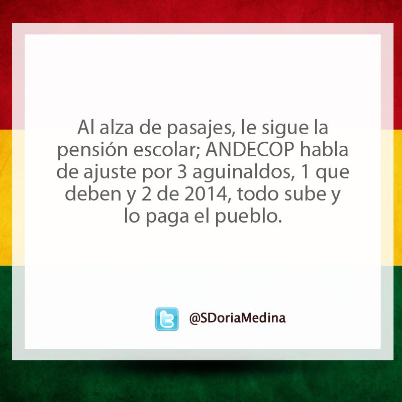 Noticias desde el twitter @SDoriaMedina