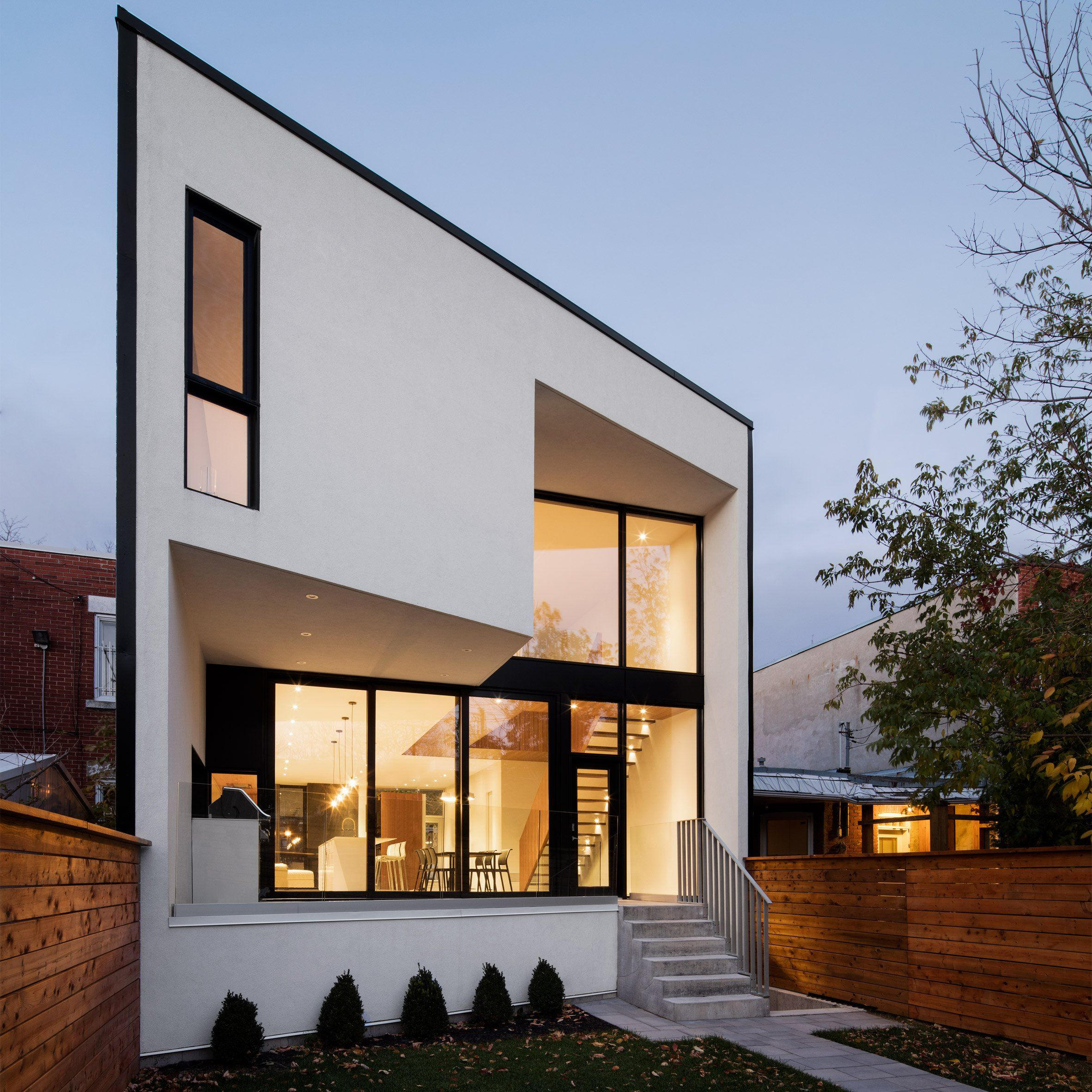 This Montreal residence has a front designed to fit in with the ...