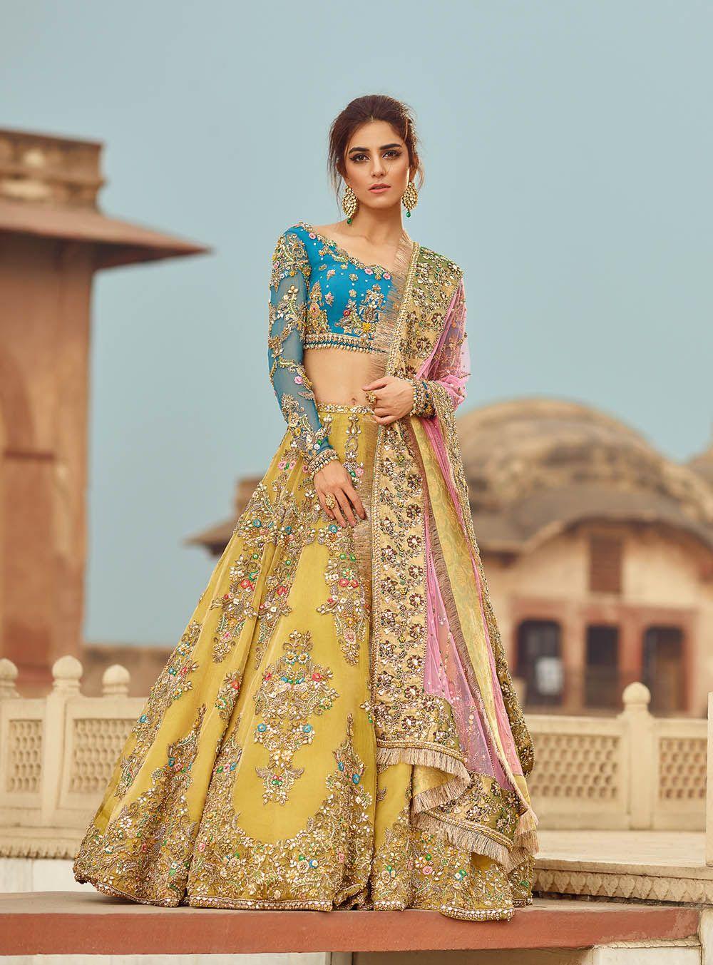 Mehndi Outfits For Brides 2020 By Pakistani Designers Latest Bridal Dresses Pakistani Mehndi Dress Bridal Mehndi Dresses