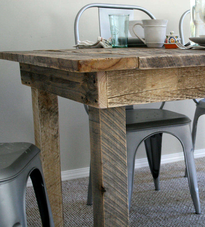 Reclaimed Barnwood Kitchen Table | Home Furniture ...