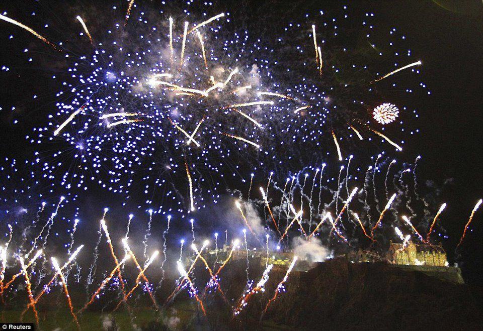 edinburgh NYE Fireworks display, Fireworks, New year