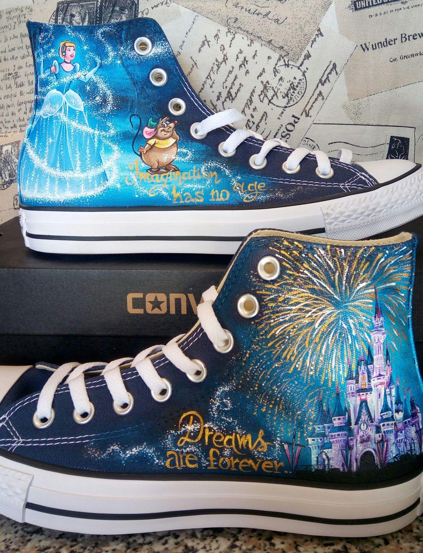 e92691bd8dd6 Disney hand painted shoes Disney shoes Cinderella castle