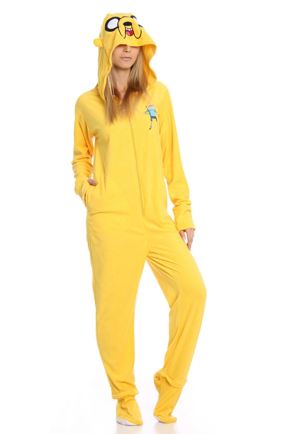464236c5cb UnderGirl Unisex Jake the Dog Adventure Time Onesie in Yellow - Beyond the  Rack