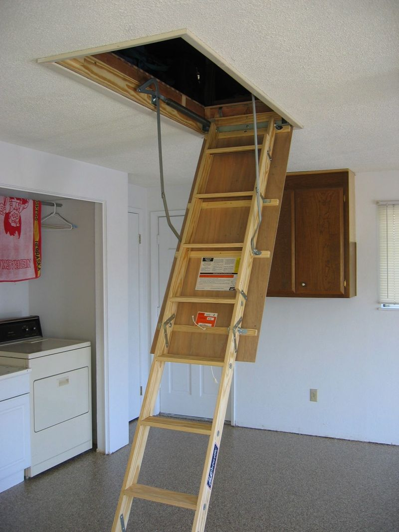 Garage Attic Ladder Attic Ladder Attic Renovation Attic Stairs