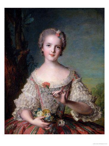 Portrait of Madame Louise de France at Fontevrault, 1748' Giclee Print -  Jean-Marc Nattier   AllPosters.com   Portrait, Woman painting, Art