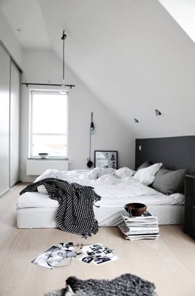 Ideen Schlafzimmer Unterm Dach | Regal Für Die Dachschräge ...