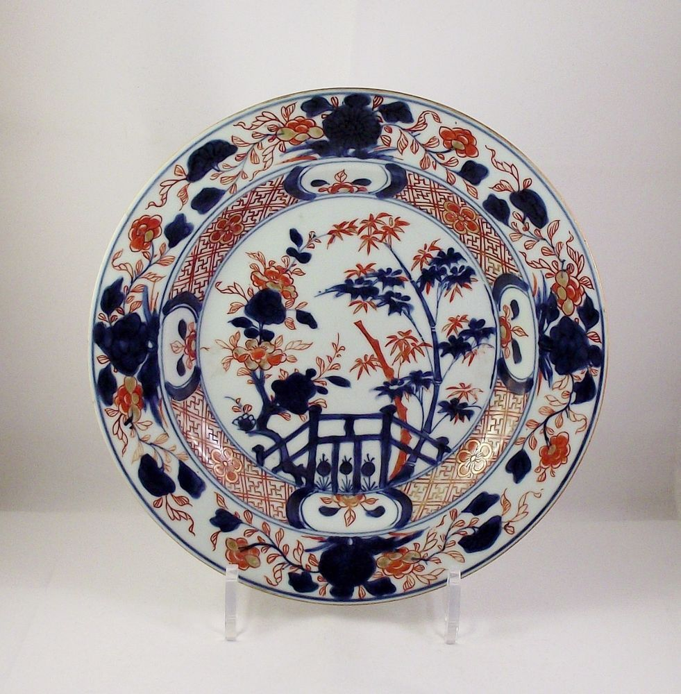 Very Fine 18thc Chinese Imari Porcelain Plate Kangxi Period Circa
