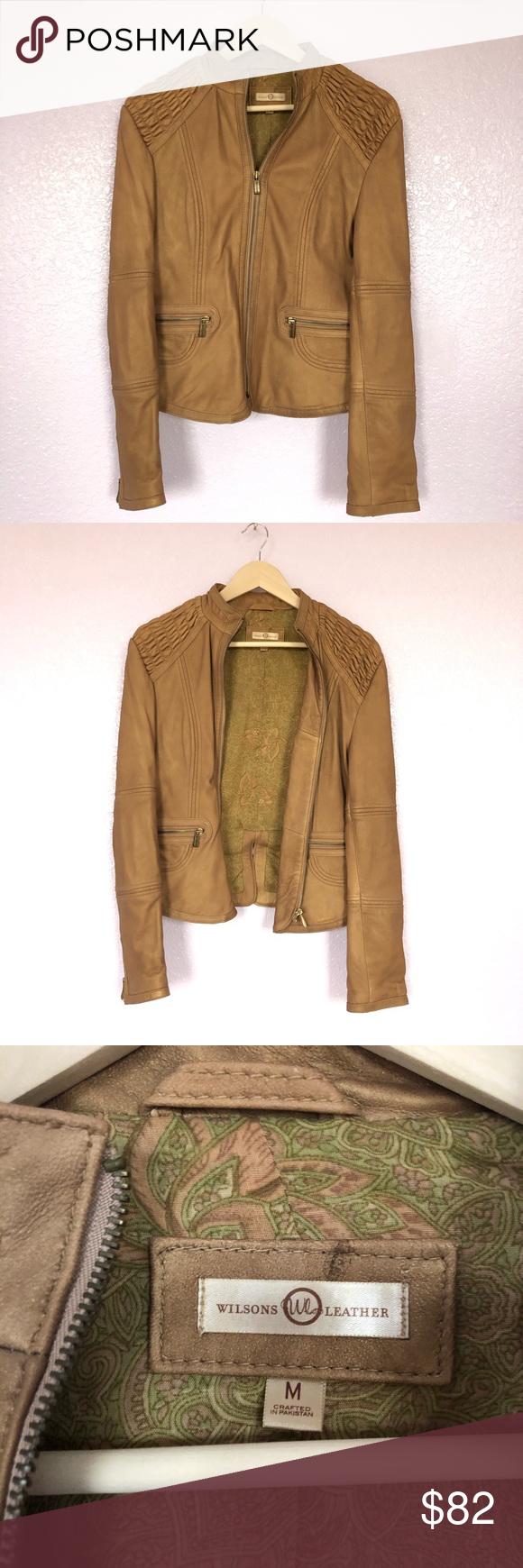 Wilson's leather moto jacket medium Leather moto jacket