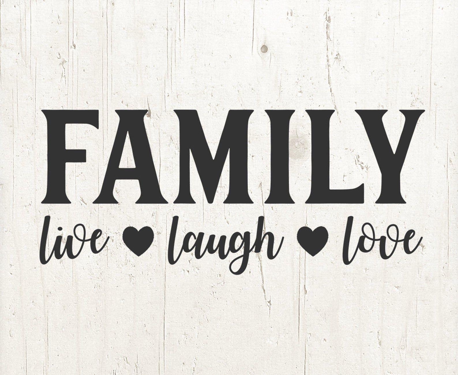 Download FAMILY live laugh love SVG family svg svg files for Cricut ...