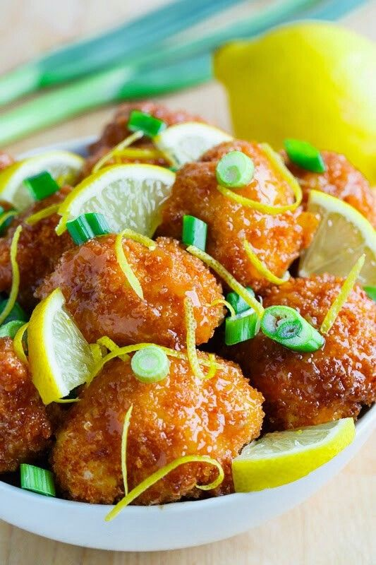recipe: crispy honey lemon chicken [29]