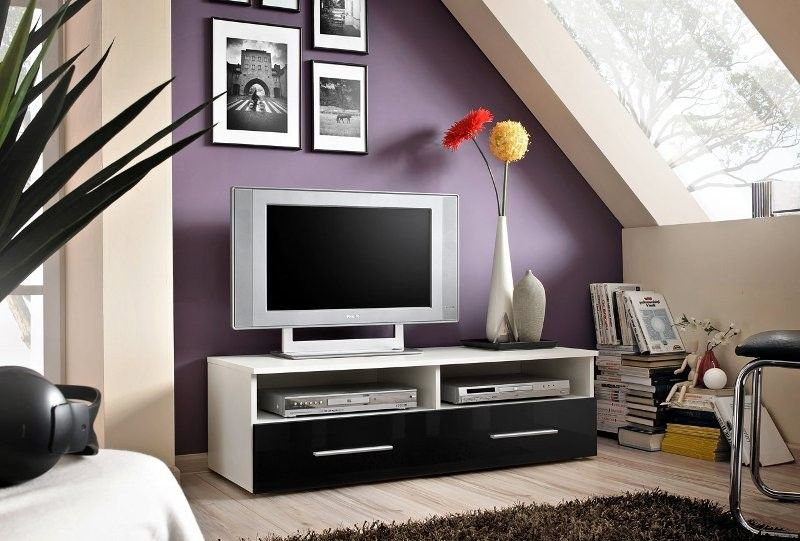Bil 4 - high gloss black front tv stand Tv units, Tv stands and