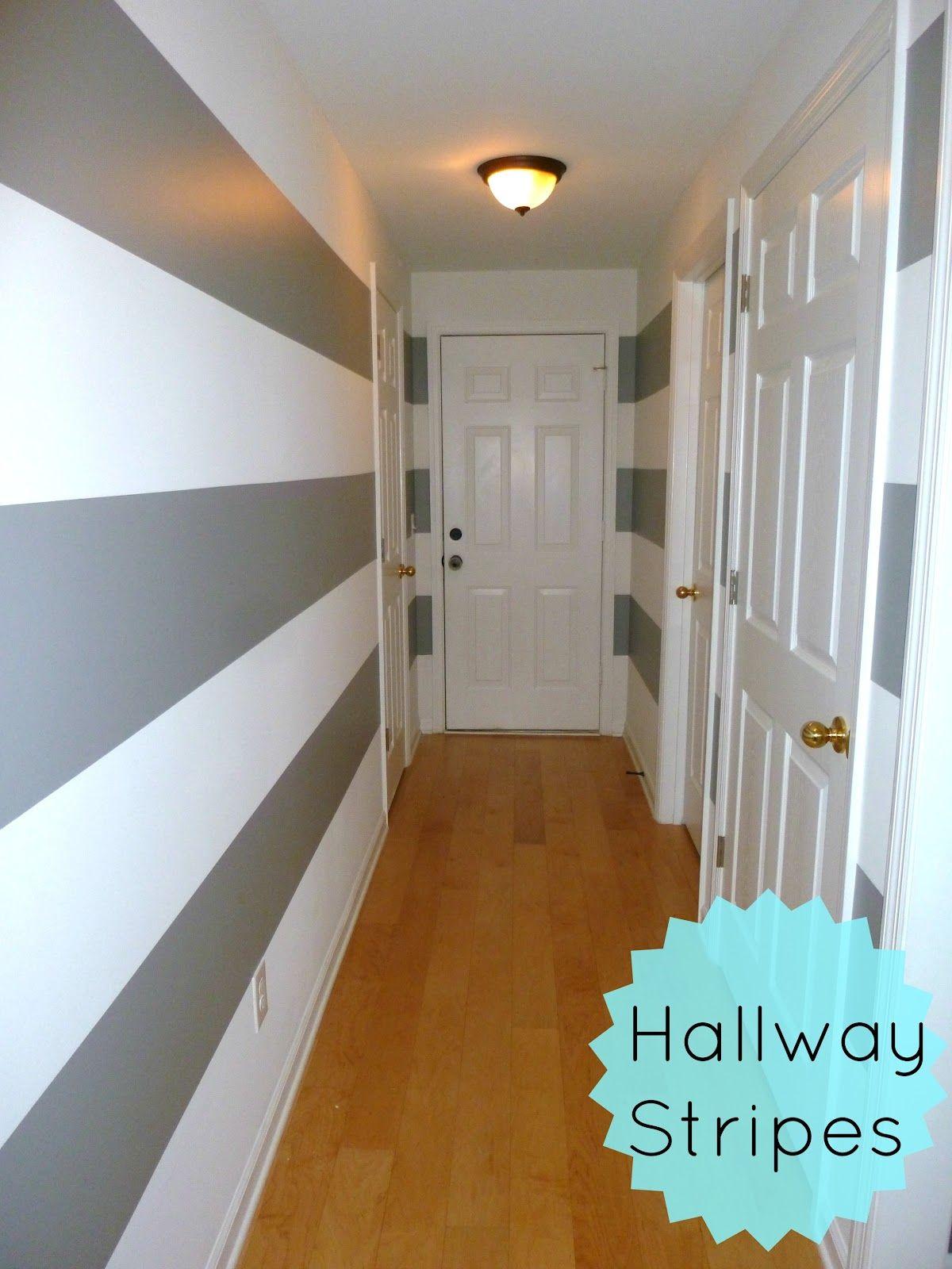 Feathers & Sunshine: Striped hallway- part 1
