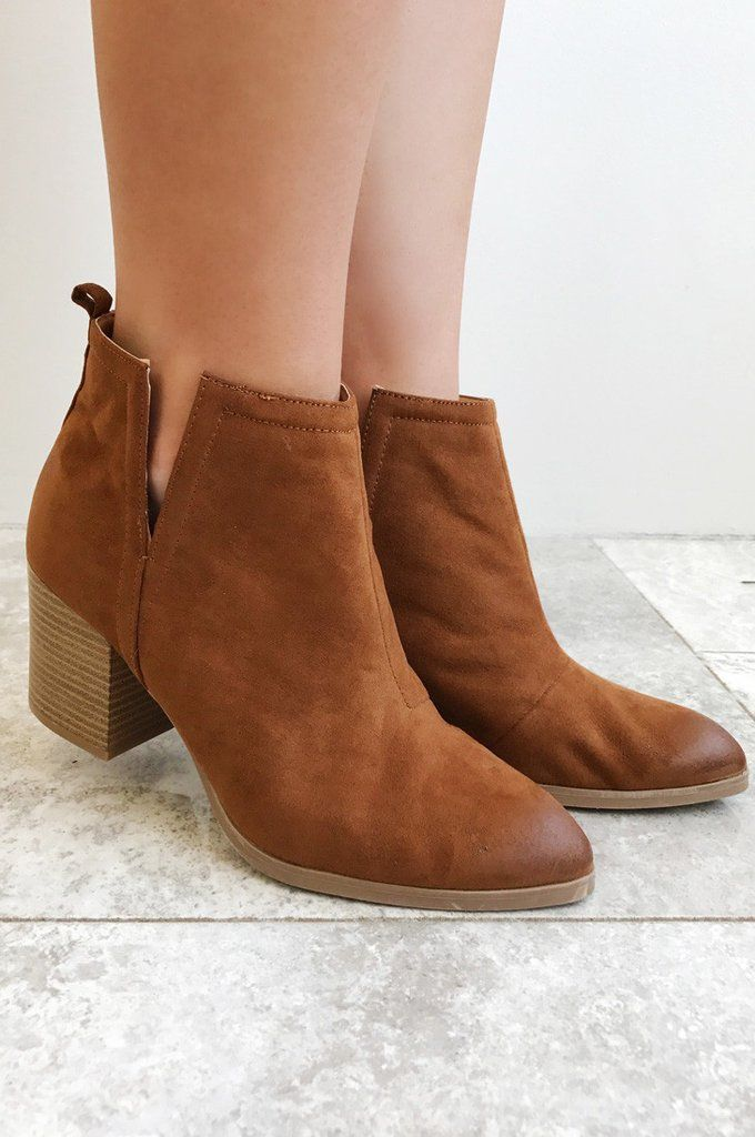 Talk Of The Town Booties: Chestnut