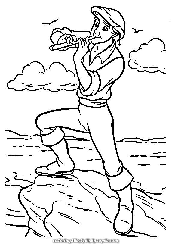 Web page - The Little Mermaid Coloring Pages 12   Mermaid ...