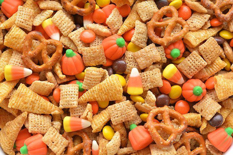 Halloween Harvest Hash Chex Mix Recipe Halloween Class Party