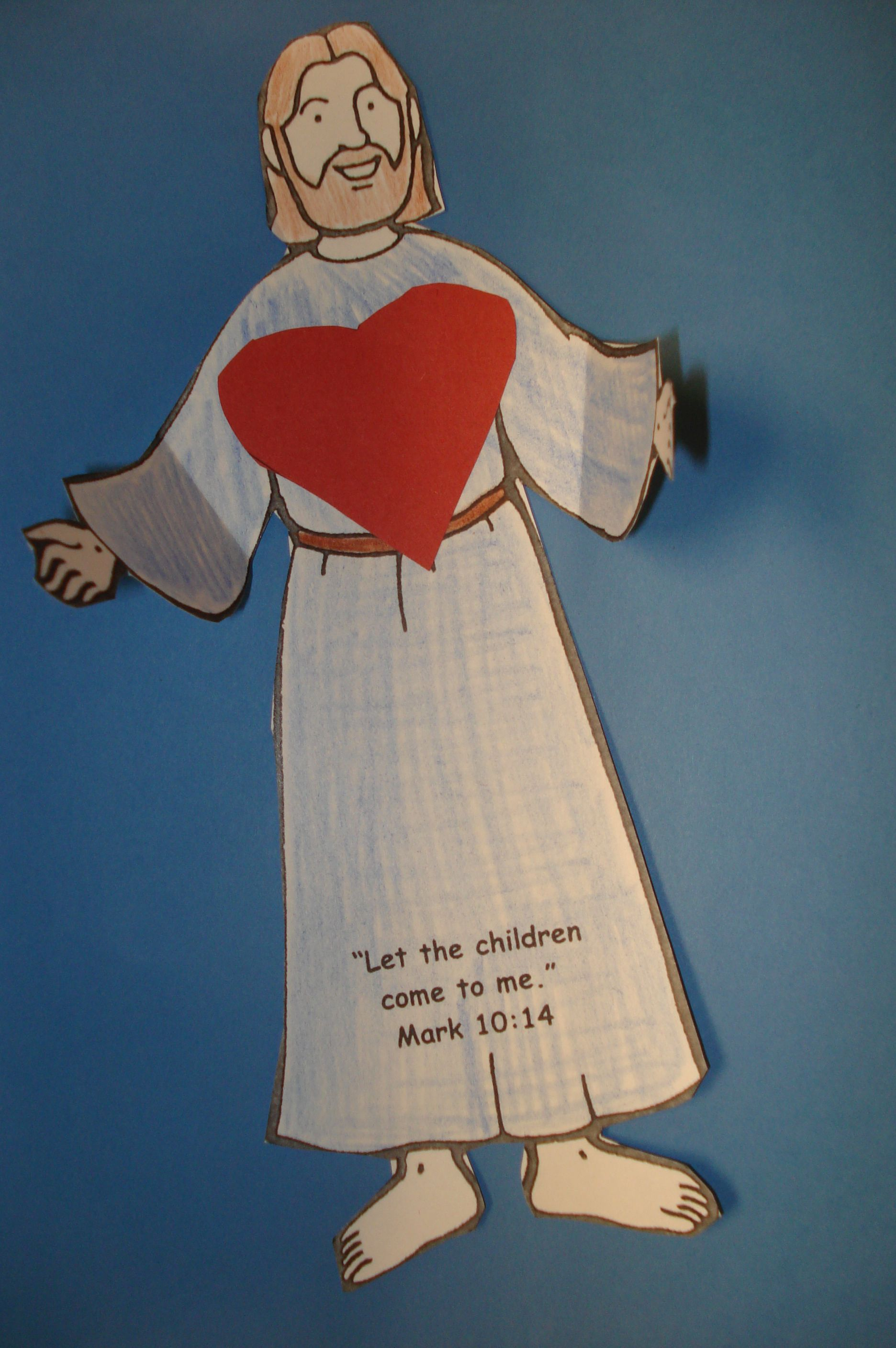 Bible craft for preschoolers - Bible Story Mark 10 13 16 What He Has Done Jesus Told