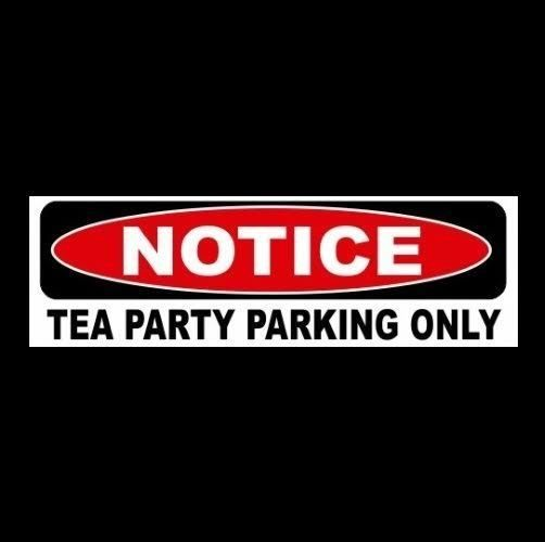 New tea party parking only decal sign sticker business home dont tread on me