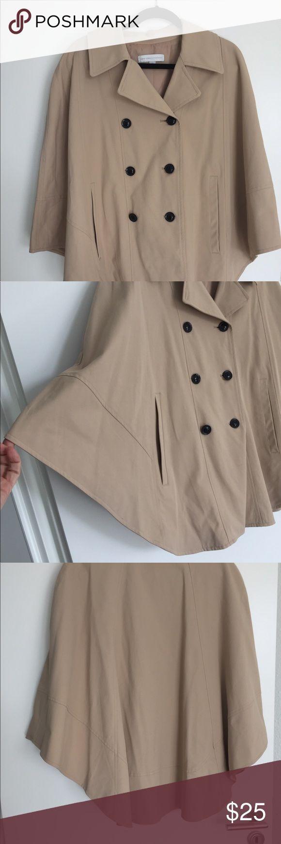 #Cape #Company #Day #Medium #Rain #Rainy #Rainy Day Outfit new york #size #Twirl #York Rain cape Size medium New York and Company rain cape.  Twirl away the rainy day ...        レインケープサイズミディアムニューヨークとカンパニーのレインケープ。この愛らしいユニークなトッパーで雨の日を振り返ります。カーキ色または黄褐色。ニューヨーク&カンパニージャケット&コートケープ #rainydayoutfitforwork