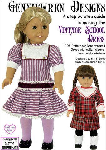 Vintage School Dress 60 Doll Clothes Pattern Doll Patterns Amazing American Girl Doll Clothes Patterns Free