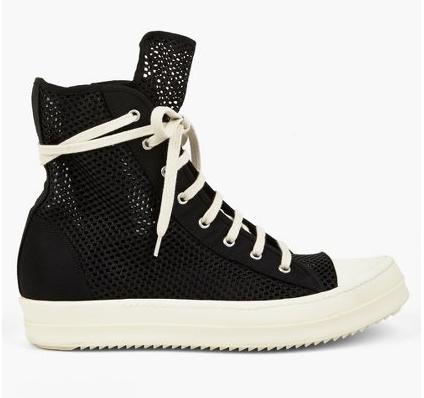 Blackdraft: Rick Owens DRKSHDW Black Mesh Ramones #Sneaker #shoeography