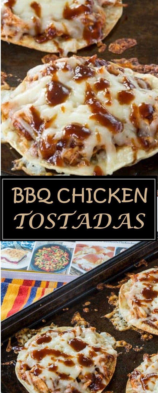 BBQ CHICKEN TOSTADAS images