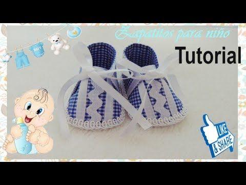 0bc09c418 Sandalias para Bebe en Tela y Moldes   TUTORIAL   Paso a Paso - YouTube