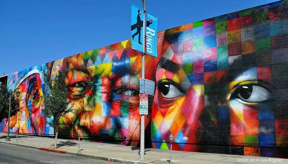 Streetart by Eduardo Kobra. Los Angeles, USA