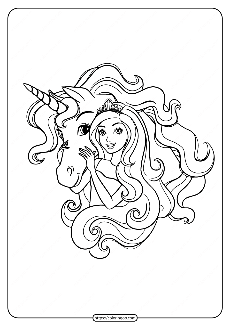 Barbie And Unicorn Unicorn Coloring Pages Dinosaur Coloring Pages Barbie Coloring Pages