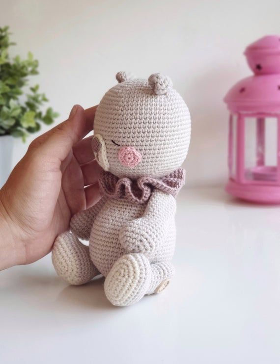 Amigurumi crochet pattern Juno the little teddy bear German/English PDF #crochetteddybears