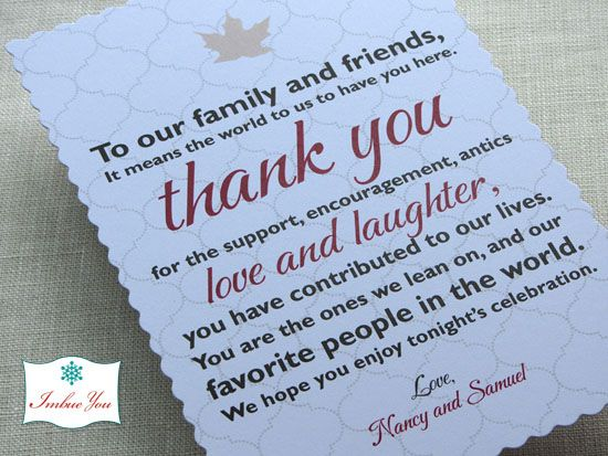 Wording And Etiquette Imbue You I Do Wedding Thank You Thank You Card Wording Wedding Welcome Bags