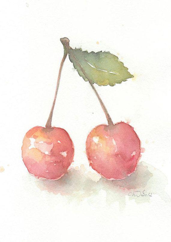 Fruit Fruit Art Print Giclee Art Watercolor Giclee Watercolor