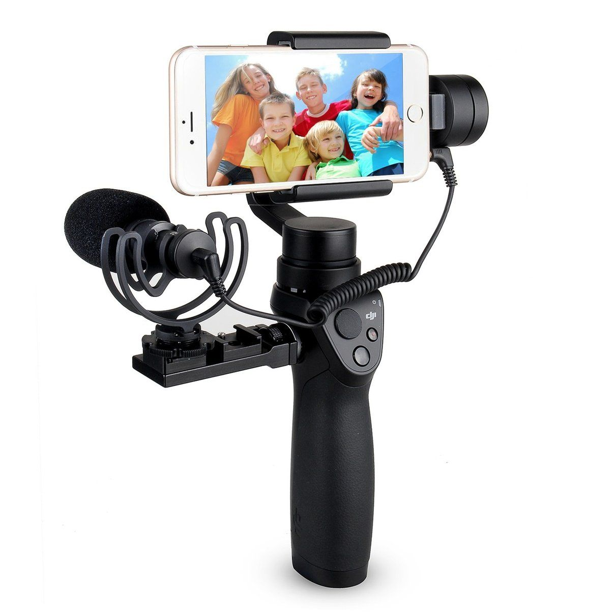 Comica Cardioid Directional Condenser Video Microphone For Dji Osmo Mobile Free Base