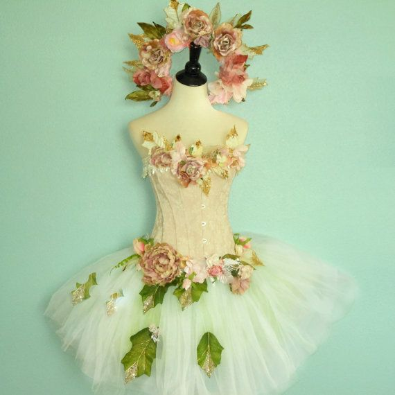 Fairy Costume - Faerie Queene - adult fairy costume size small - bust 32 inches- with dragonfly wings #crownheadband