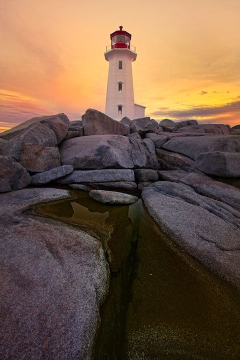 Peggy's Cove Lighthouse, Nova Scotia...had to be staged to get people out of the pic!!! LOL