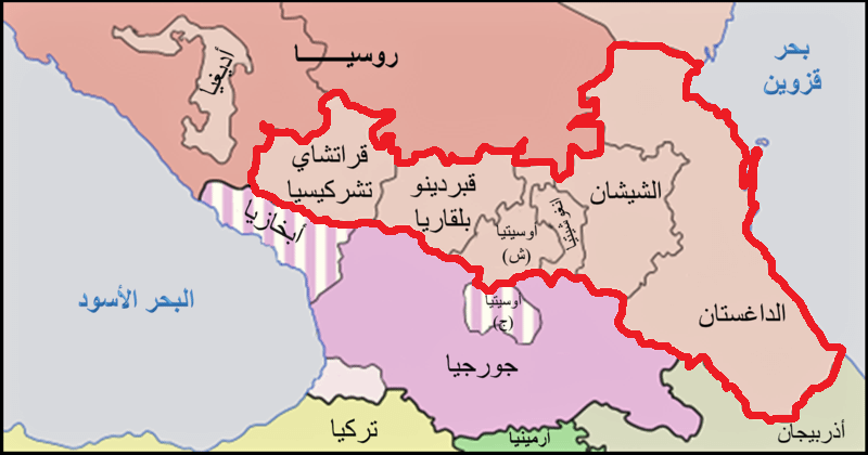 منطقة القوقاز أكثر المناطق تنوعا على وجه الأرض Map World World Map