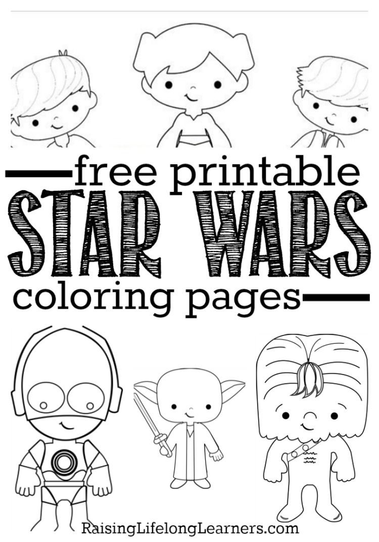 free coloring pages and star wars | Free Printable Star Wars Coloring Pages for Star Wars Fans ...