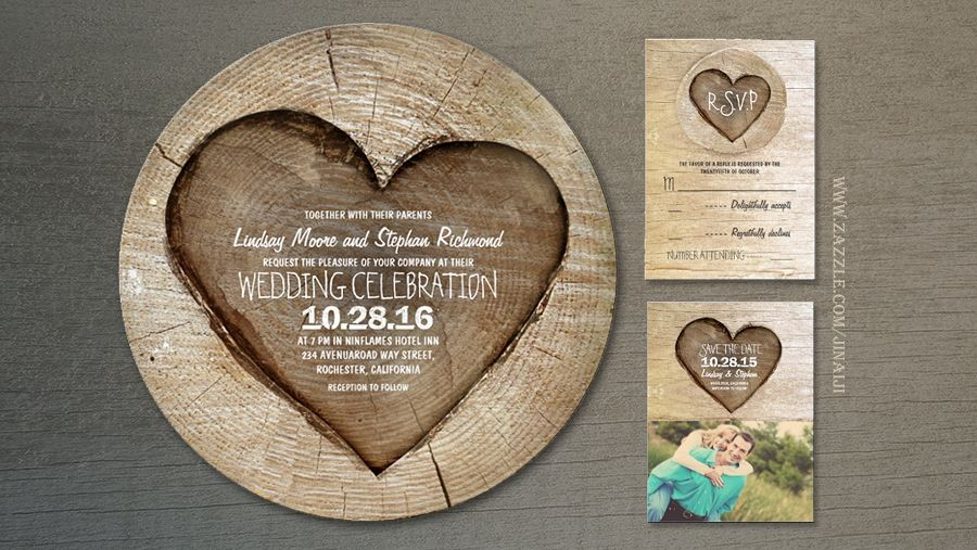 Read More Wooden Heart Rustic Country Wedding Invites Wedding Invitations Rustic Country Heart Wedding Invitations Country Wedding Invitations