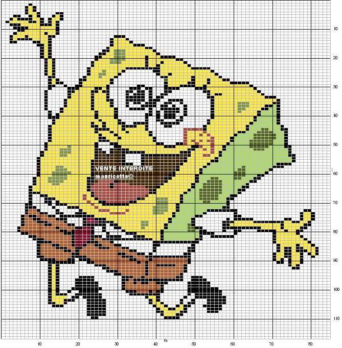 More SpongeBob Pixel Art | Pixel Art stuff. | Pinterest | Bob ...