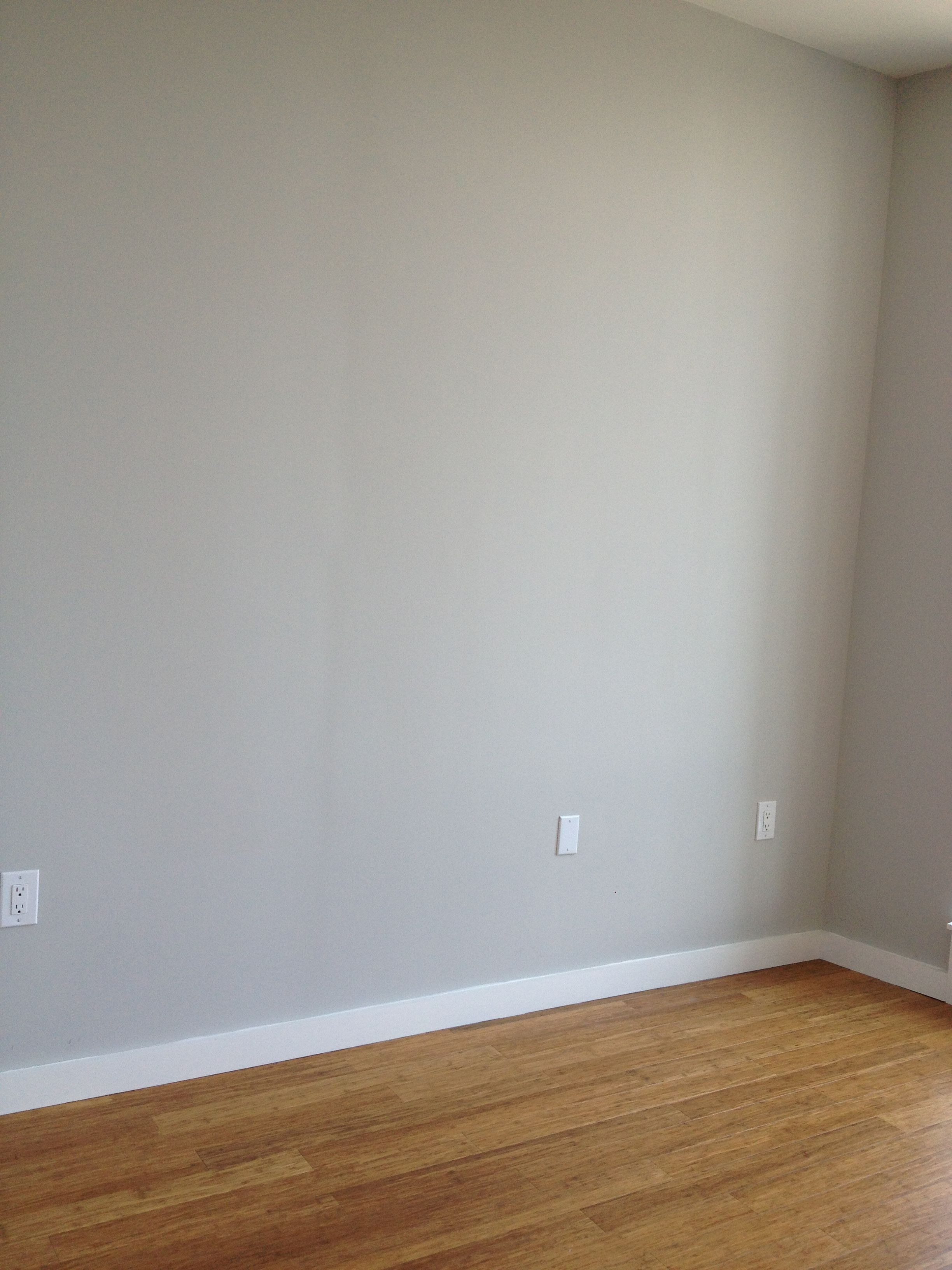 Master Bedroom Gray Walls And Oak Floors Grey Walls Bedroom